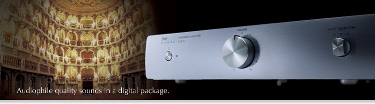Audiophile quality souns in a digital package.